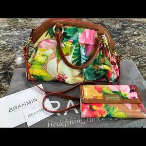 Floral Brahmin Bag & Wallet